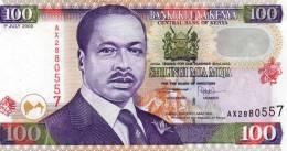Bankikuuya Kenya - Central Bank Of Kenya - 100 - Shilingi Mia Moya - Daniel Totoitich Arap Moi -1er July 2000 - Kenya