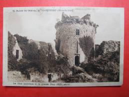Ruines Du Château De Tonquedec (Côtes Du Nord). La Cour Int. Et La Grande Tour (XIV°s.) - Tonquédec
