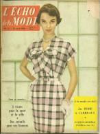 ECHO De La MODE N° 18 Du 29/4/1956 Interview Du Photographe Sam LEVIN/Patron De PULL - Mode