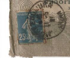 Variété : Timbre N° 140, Jambe Du R De République Incomplet, Sur Lettre à Entête De 1921, Avec 2 Cachets Type A4 Du Jura - Variedades Y Curiosidades
