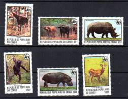 Congo 1978, W.W.F., Animaux En Péril, 499 / 504**, Cote 24 €, - W.W.F.