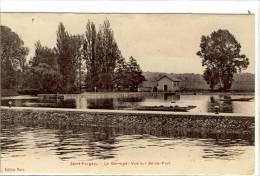 Carte Photo Ancienne Saint Fargeau - Le Barrage. Vue Sur Seine Port - Saint Fargeau Ponthierry