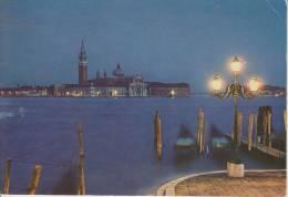 VENEZIA--BACINO SAN MARCO--ISOLA DI SAN GIORGIO--NOTTURNO--FG--SCRITTA 1985 - Venezia