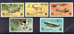 Kenya 1977, W.W.F., Animaux En Danger De Disparition, 86 / 90**, Cote 12 €, - W.W.F.