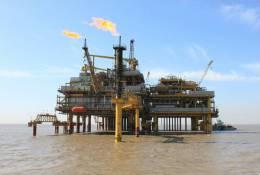 (N51-089  )   Petroleum Offshore Platform Oil Well Pumpjack Pump Offshore Drilling - Oil