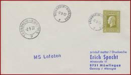 Schiffspost Norwegen M/S Lofoten  Vom 2.9.1977  Trondheim - Kirkenes - Norwegen