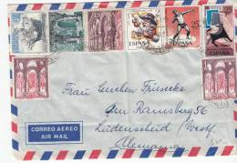 SPAIN USED COVER - 1951-60 Lettres