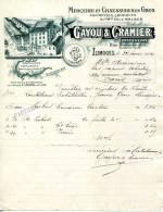 87.HAUTE VIENNE.LIMOGES.MERCERIE & CHAUSSURES EN GROS.ALLUMETTES CHIMIQUES.CAYOU & CRAMIER. - Textile & Vestimentaire