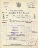 LAMBETH LONDON  DOULTON & CO. LIMITED  ROYAL DOULTON POTTERIES  13.05.1919 - Royaume-Uni