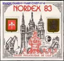 """CNEP N°   4 A De 1983 Bloc """" Nordex 83 - Variété Roue Du Derrick Cassé - CNEP"""