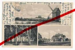 PostCard - Liebenzig Schlesien, Kölmchener See, Landjahrheim, Bahnhof, Ca. 1935 - Lubięcin - Schlesien
