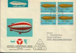 1976 ENVELOPPE COMMEMORATIVE TRIENGEN LUZERN - Posta Aerea