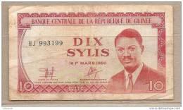 Guinea - Banconota Circolata Da 10 Sylis - 1980 - Guinea