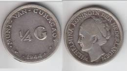 **** CURACAO - PAYS-BAS - NETHERLANDS - 1/4 GULDEN 1944 D WILHELMINA - ARGENT - SILVER **** EN ACHAT IMMEDIAT - Curacao