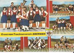 Autriche.Tyrol. Biberwier. Groupe Folklorique. Accordéons, Tuba, Danseurs. - Dans