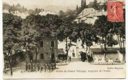 7644  Savoie - CHAMBERY - (Militaria)   97 éme De Ligne  - Arrivée Du Gal METZINGER, Inspecteur De L'Ar Circulée En 1906 - Chambery