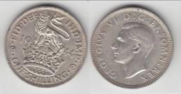 **** GRANDE-BRETAGNE - GREAT-BRITAIN - 1 SHILLING 1944 - ONE SHILLING 1944 GEORGE VI - SILVER **** EN ACHAT IMMEDIAT !!! - 1902-1971 : Monnaies Post-Victoriennes