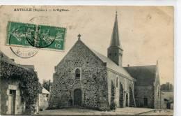 CPA 53 ASTILLE L EGLISE 1909 - France