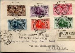 1932 ISOLE DELL´EGEO DANTE ALIGHIERI POSTA AEREA - Egée (Rodi)