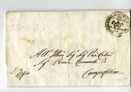 DC322-1857 Lettera GROTTAMARE-CAMPOFILONE-co N PREZZI:salame,prosciutto, Parmeggiano, Ecc.....+TIMBRO COMUNITA' Grottama - Italien