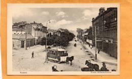Kaunas Kowno Kaiser Wilhelm Strasse Tram Old Postcard - Lituanie