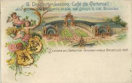 BRUXELLES - 1897 EXHIBITION - G DESCHUTTER-LECOCQ, CAFE DU TATTERSALL #1 - Exhibitions