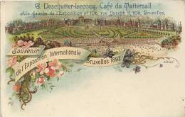BRUXELLES - 1897 EXHIBITION - G DESCHUTTER-LECOCQ, CAFE DU TATTERSALL #2 - Exhibitions