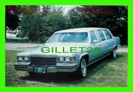 PHOTOS VIELLES VOITURES - LIMOUSINE GM CADILLAC GRISE - VINTAGE CAR PHOTO - - Automobili