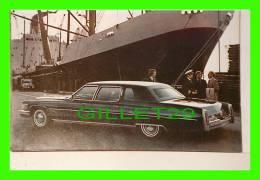PHOTOS VIELLES VOITURES - GM CADILLAC LIMOUSINE, NOIR  4 PORTES - VINTAGE CAR PHOTO - - Cars