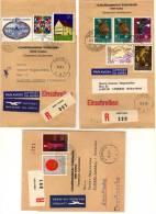 Liechtenstein - Imprimé / Einschreiben / Drucksache - 3 Bandes à Destination De La Suède - Andere