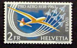 SWITZERLAND # C46.  2fr,   50th Anniversary First Alpine Flight..   MH (*) - Airmail