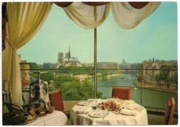 766 - PARIS - Notre-Dame Vue Du Restaurant De La Tour D'Argent - Panorama Sur La Seine - Circulée 1971 -Scan Recto-verso - Pubs, Hotels, Restaurants