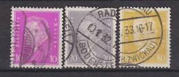DR 435-437, Ebert Und Hindenburg, Gestempelt - Gebraucht