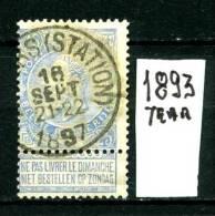 BELGIO - BELGIQUE - Regno Di LEOPOLDO II - Year 1893 - Viaggiato -  Traveled - 1893-1900 Barba Corta