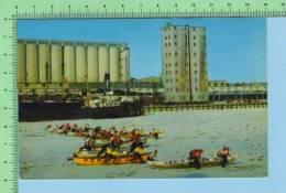 Quebec  Canada  ( La Cource En Cannots Sur Le Fleuve Au Carnavalle En Hiver )Carte Postale Postcard Cartolina 2 Scan - Sports D'hiver