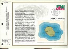 Feuillet Sur Soie CEF N° 392 - Ile De La Reunion - Documents De La Poste