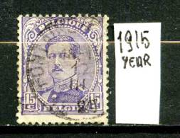 BELGIO - BELGIQUE - Regno Di ALBERTO I - Year 1915 - Viaggiati - Traveled. - Usati