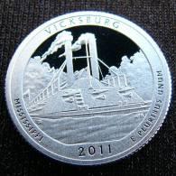 USA 25 Cent. $1/4 2011 Quarter National Park Vicksburg Mississippi Ship SILVER PROOF - EDICIONES FEDERALES