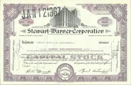 TOP!! STEWART-WARNER CORPORATION * NAMENS AKTIE * 100 SHARES * NYH4502 * 1966 * WARENHAUS   **!! - Hist. Wertpapiere - Nonvaleurs