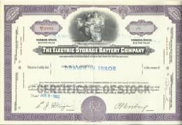 TOP!! THE ELECTRIC STORAGE BATTERY COMPANY * NAMENS AKTIE * 1 SHARE * NCO33931 * 1962 * FRAU MIT KIND UND LICHT **!! - S - V