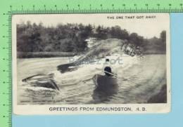 """Edmondston N.B.Canada ( Photo Montage Photographique De Pèche """" That One That Got Away )  Carte Postale PostCard  2 Scan - Photographie"""