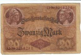 Germany #48a, 20 Mark 1914 Banknote Paper Currency - [ 2] 1871-1918 : Duitse Rijk