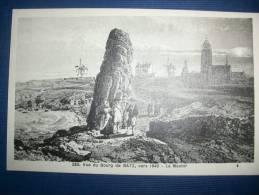 BATZ - Vue Du Bourg Vers 1840 - Le Menhir - Batz-sur-Mer (Bourg De B.)