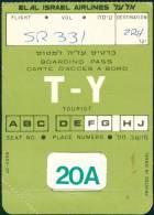 Boarding Pass - ELAL Israel Airlines - Cartes D'embarquement