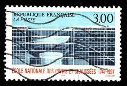 FRANCE  1997   -  Y&T   3047  -     Ecole Nationale Des Ponts Et Chaussées  -  Oblitéré - Gebraucht