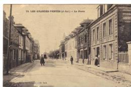 Les Grandes Ventes La Poste  Seine Infèrieure Normandie Cpa Animée 1923 Dépt 76 - Other Municipalities