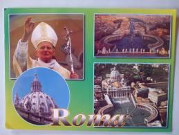 - ROMA - GIOVANI PAOLO II E LA BASILICA DI SAN PIETRO - Timbre  - Scan Verso - - Vaticano