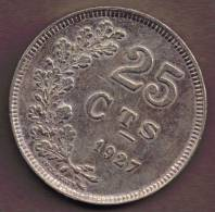 LUXEMBOURG 25 CENTIMES 1927 - Luxembourg