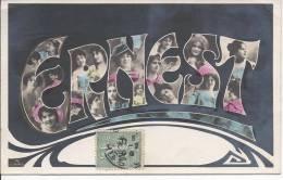 7090 - Ernest Portraits De Jeunes Filles Art Nouveau - Prénoms