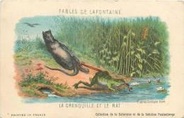 SOLUTION PAUTAUBEUGE  FABLE DE LA FONTAINE   LA GRENOUILLE ET LE RAT - Chromos